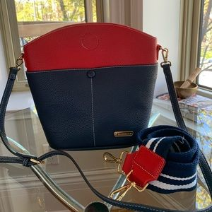 Manocchio - Navy and Red Purse